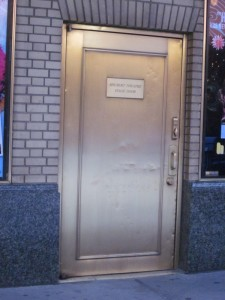 Gold Stage Door at Shubert Theater