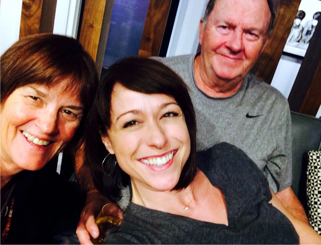 Paige Davis with Dad & Stepmom