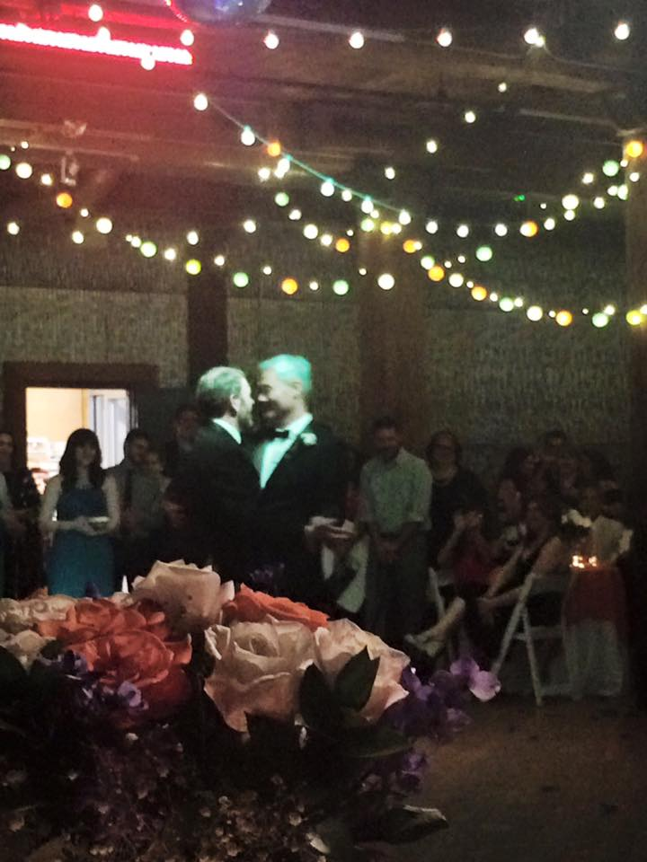 Mike and Paul during their first dance.