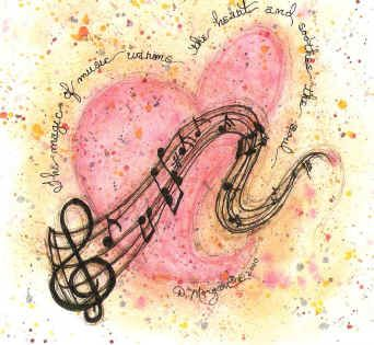 """""""The magic of music warms your heart and soothes the soul."""""""